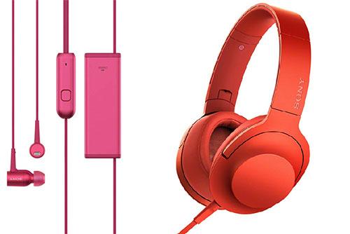 Tai nghe h.ear in và h.ear on của Sony.