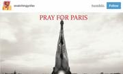 Biểu tượng 'Pray for Paris' tràn ngập Facebook