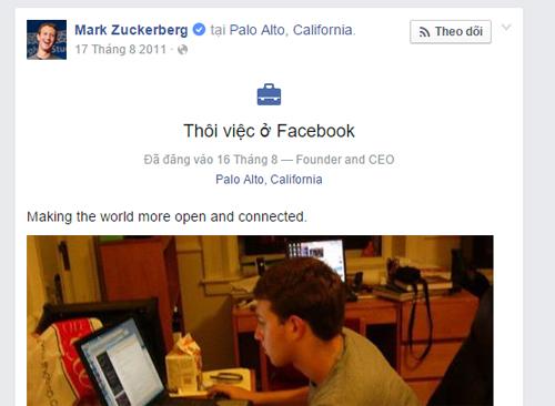 Những lỗi Facebook, đổi trạng thái Mark Zuckerberg thành nghỉ việc
