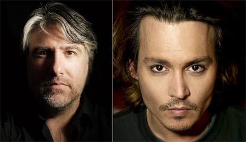 Chân dungAbosch và diễn viên Johnny Depp do ông tự ghi lại.