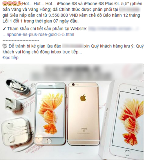 Những chiếc iPhone 6s và 6s Plus nhái, giả được bán với giá rẻ và công khai.