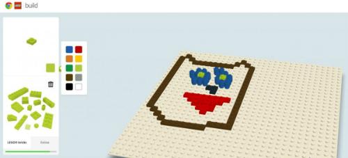 Cuối cùng, bạn có thể cho con chơi trò xếp hình Lego ngay trên laptop bằng cách mở trang BuildWithChrome.com của Google.
