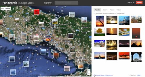 Công cụ Panoramio khi kết hợp với Google Maps sẽ cho phép người dùng ghim những hình ảnh của mình tại những nơi mà họ đã từng đến. Nhờ đó, bạn có thể xem các hình ảnh thật về bất kỳ địa điểm nào trên trái đất.