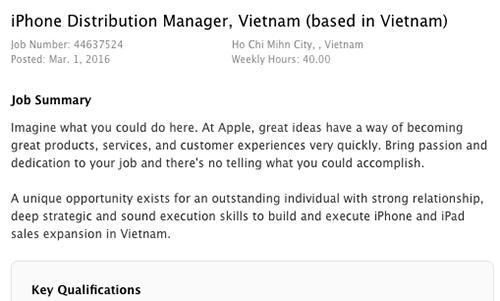 apple-dang-tuyen-giam-doc-tai-thi-truong-viet-nam