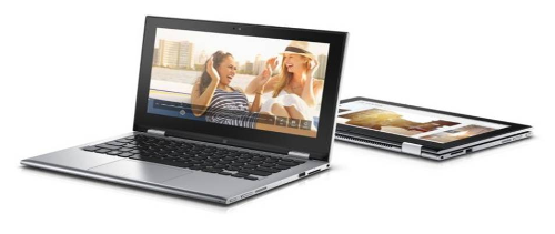 Laptop Dell Inspiron 3158 thiết kế xoay 360 độ