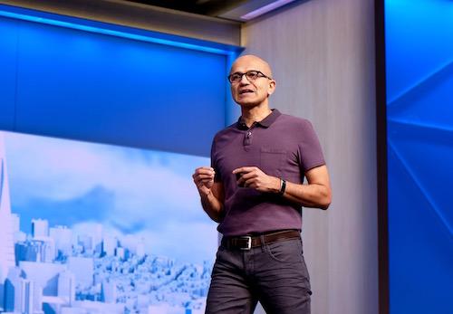 Satya Nadella, CEO Microsoft tin rằng, trí tuệ nhân tạo và hội thoại tương tác sẽ là nền tảng của tương lai.