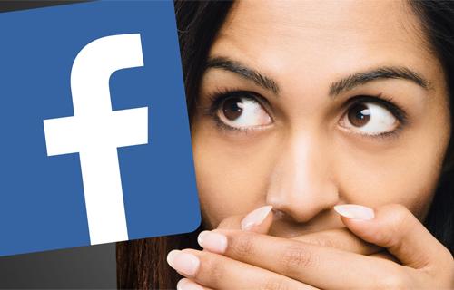 Không ít người ngại chia sẻ thông tin lên Facebook vì sợ bị nhòm ngó, phán xét. Ảnh minh họa: Laughingsquid