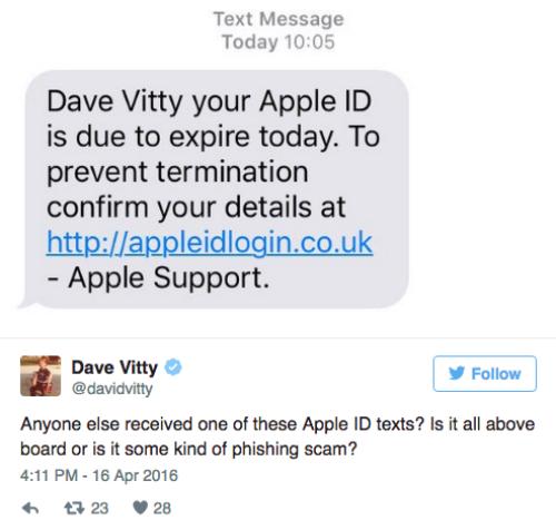 Một tin nhắn dùng địa chỉ giả mạo Apple nhằm đánh cắp thông tin tài khoản iCloud.