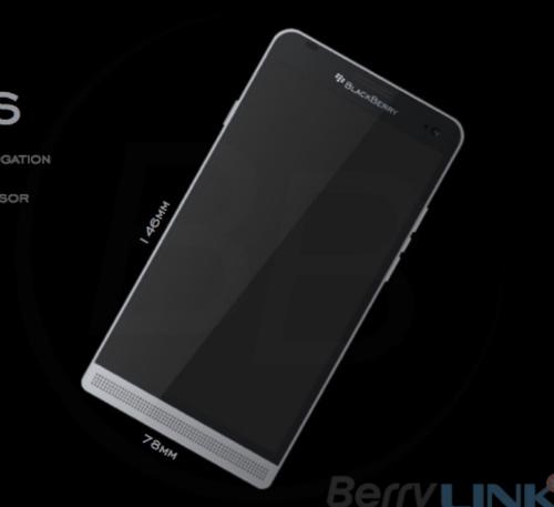 Hình ảnh được cho là BlackBerry Hamburg với màn hình cảm ứng lớn, không còn bàn phím cứng.