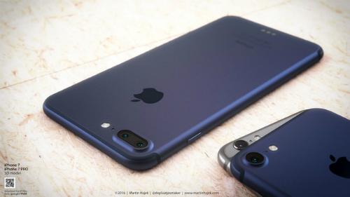 Một ảnh concept về iPhone 7 với màu mới sẫm hơn.