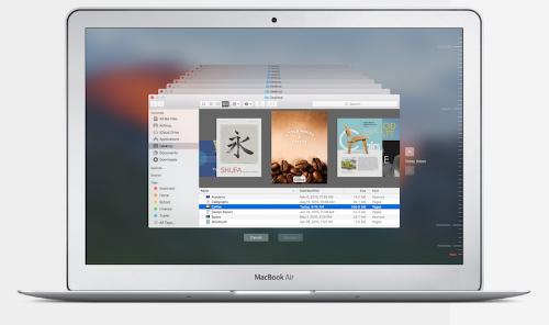 Tính năng sắp xếp nội dung dạng như này trên MacOS của Apple bị cho là vi phạm sáng chế công nghệ.