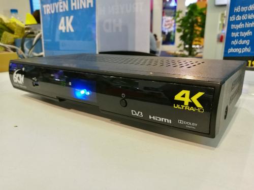 Đầu thu truyền hình cáp có hỗ trợ 4K và âm thanh đa kênh.