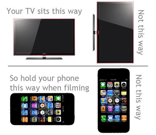 Không ít người dùng di động được nhắc nhở phải xoay ngang điện thoại khi quay video, để tránh video xấu xí với viền đen lớn ở hai bên