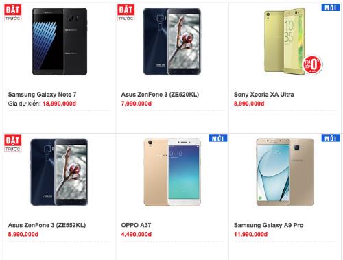 Galaxy Note 7 chính hãng có giá dự kiến từ 18,99 triệu đồng.