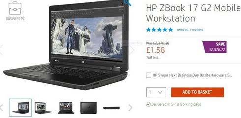 Sự cố trên website bán hàng khiến laptop HP giá chỉ còn 2 USD