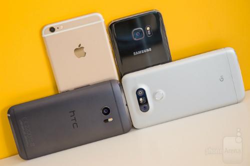 HTC 10 và LG G5 ra mắt từ đầu năm nhưng vắng bóng trên thị trường.
