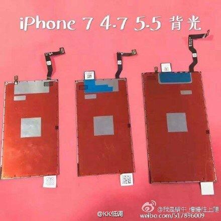 Linh kiện được cho là màn hình của iPhone thế hệ mới. Ảnh: Weibo.