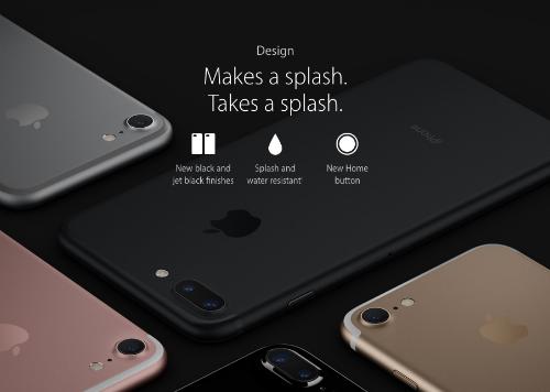 Thiết kế chống nước lần đầu tiên xuất hiện trên iPhone.