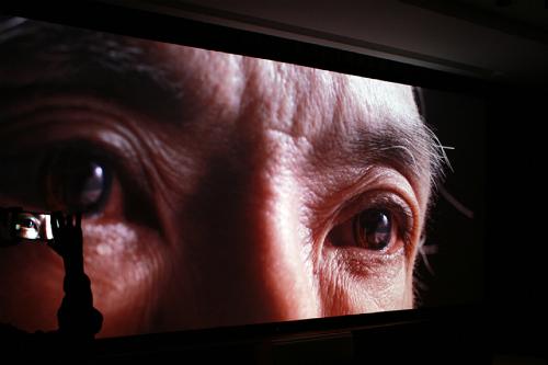 Hình ảnh chiếu thử ở kích thước 150 inch với độ phân giải 4K rất sắc nét.