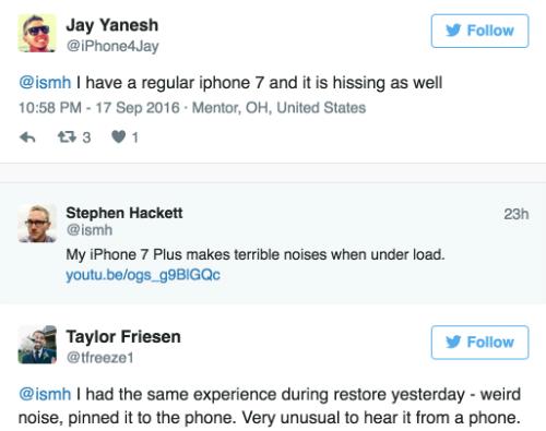Nhiều người đều gặp vấn đề âm thanh lạ trên iPhone 7 và 7 Plus.