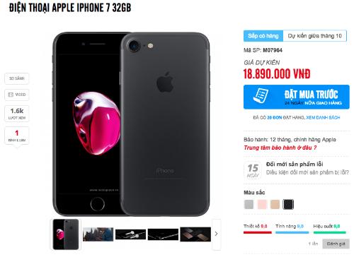 iPhone 7, 7 Plus chính hãng có thể về nước sớm hơn mọi năm.