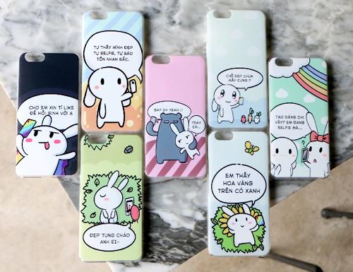 Ốp lưng với hình ảnh ngộ nghĩnh, màu sắc tươi tắn hài hòa cùng những phát ngôn dí dỏm đậm chất Thỏ Bảy Màu được đặt hàng thiết kế và sản xuất với số lượng giới hạn dành riêng cho các khách hàng của FPT Shop.