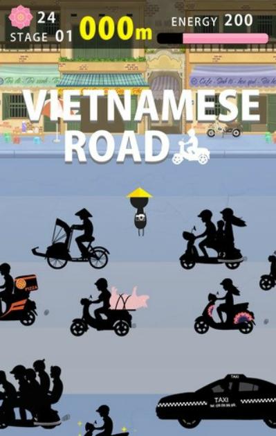 Giao diện trò chơi Vietnamese Road.