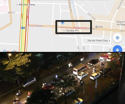 Google Maps mở tính năng theo dõi tắc đường ở Việt Nam
