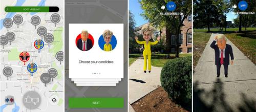 Trump, Clinton xuất hiện trong Pokemon Go phiên bản tranh cử