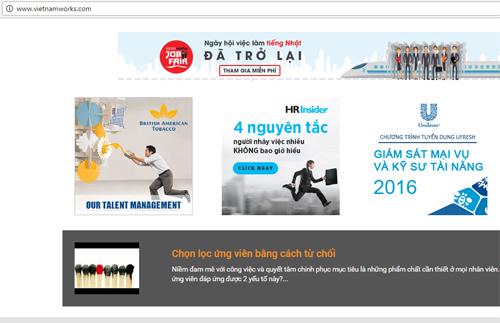 Vietnamworks là một trong những mạng tuyển dụng lớn nhất tại Việt Nam.