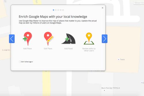 Map Maker là công cụ hoàn thiện Google Map dựa trên thông tin từ cộng đồng.