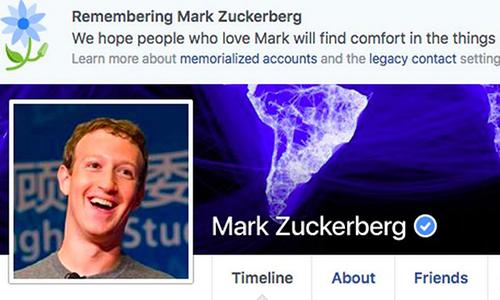 Facebook đưa nhầm thông điệp Mark Zuckerberg qua đời