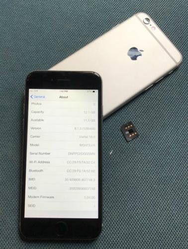 Loại iPhone 6 khoá mạng hàng Nhật giá rẻ có đuôi mã J/A và phải cần đến sim ghép để lên sóng.