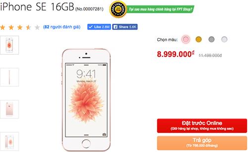 iPhone SE chính hãng hạ giá xuống ngang với hàng xách tay.