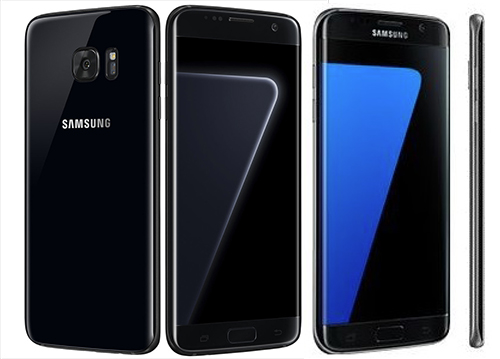 Galaxy S7 edge Black Pearl có viền đen, khác với viền xám của S7 edge Black Onyx.