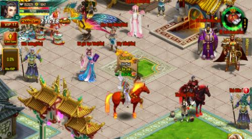 Bối cảnh trong game mobile Chinh đồ.