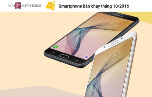 Galaxy J7 Prime cũng là smartphone bán chạy nhất của Samsung thời gian gần đây.
