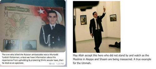 Những thành phần ủng hộ IS coi những kẻ khủng bố như người hùng.