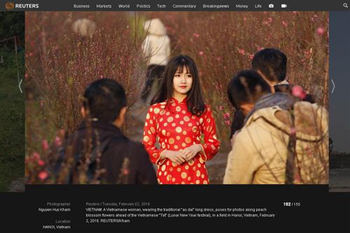 Bức ảnh đại diện cho Việt Nam năm 2016 trên Reuters.