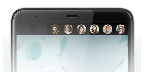 Dual display trên HTC U Ultra giúp hiển thị thông báo, truy cập nhanh đến một số ứng dụng.