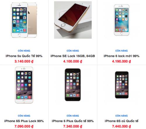 iPhone SE xách tay giờ chủ yếu còn loại hàng qua sử dụng với giá rẻ.