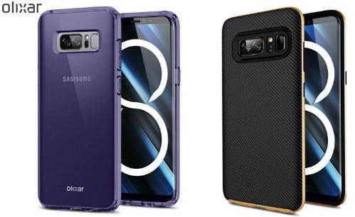 Galaxy Note 8 xuất hiện trong quảng cáo ốp lưng của một hãng phụ kiện.