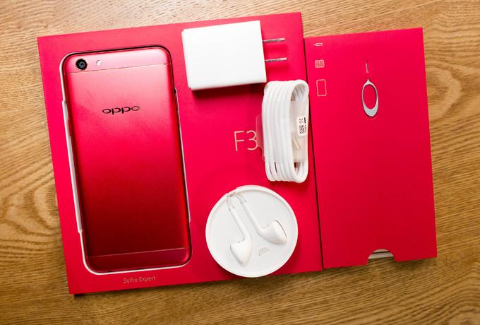 Oppo F3 màu đỏ