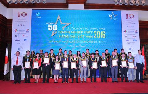 Lễ công bố50 doanh nghiệp CNTT hàng đầu Việt Nam 2016.