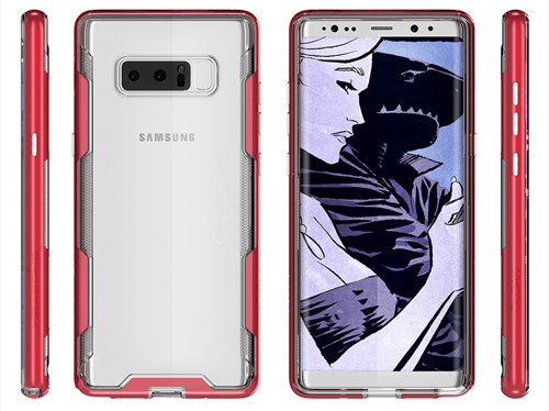 Galaxy Note 8 trong vỏ case của Ghostek.