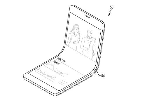 Mô tả của Samsung về mẫu điện thoại với màn hình có thể gập đôi.