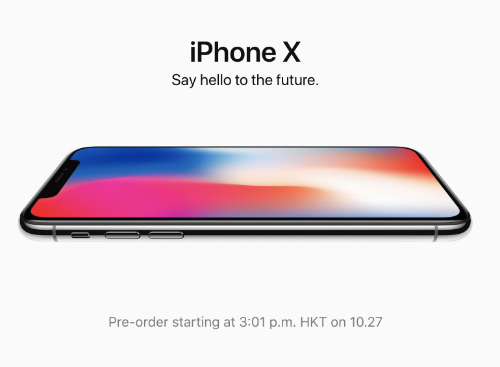 Website của Apple tại Mỹ và một loạt thị trường khác đã đổi giao diện chủ đạo sang iPhone X để chuẩn bị cho việc đặt hàng bắt đầu từ trưa 27/10.
