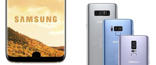 Hình dung của PhoneArena về hai khả năng đặt cảm biến vân tay trên Galaxy S9.