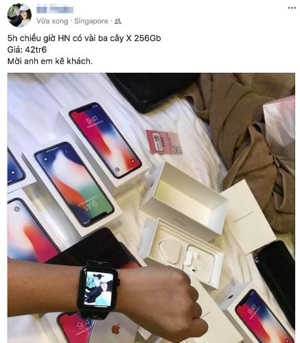 iPhone X cũng được nhiều người rao bán trên Facebook nhưng giá mỗi nơi một khác.