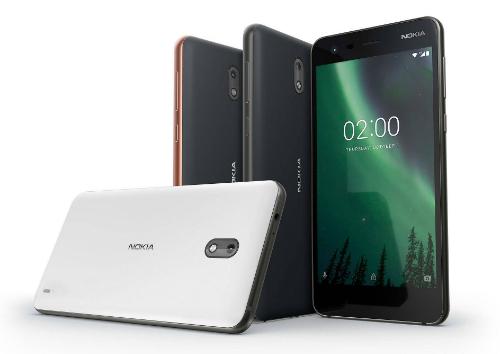 Nokia 2 giá rẻ có ba màu, trắng, đen viền xám và đen viền đồng.